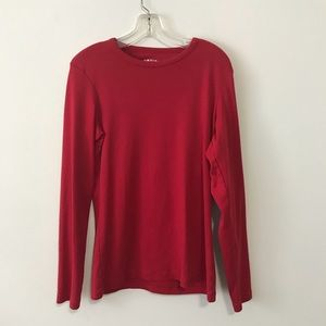 Orvis Long Sleeved Red Cotton T-shirt